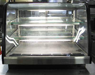 Federal curved glass Merchandiser refrigerated food deli meat display case