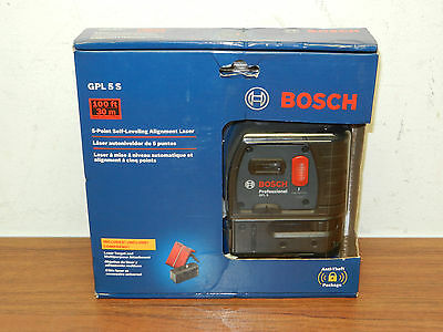 BRAND NEW! Bosch GPL 5 S 5-Point Self-Leveling Alignment Laser Level SEALED