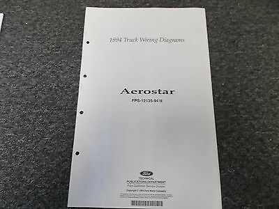 1994 ford aerostar xl xlt van wagon electrical wiring diagram manual