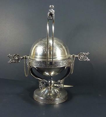 Antique Aesthetic  Silverplate Domed Roll Top  Butter Dish  Rogers Bros. c1880