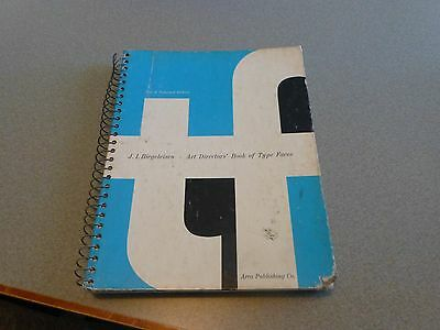 ART DIRECTOR'S BOOK OF TYPE FACES Biegeleisen Typefaces Printing Press 1970 2nd
