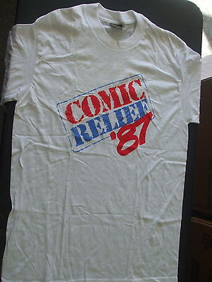 Vintage Comic Relief '87 (1987) White T-Shirt Size Large (LG)