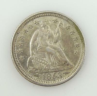 Higher Grade 1853-P Seated Liberty SILVER Half Dime 5-Cent Coin * S