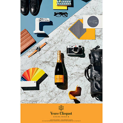 Veuve Clicquot Design Poster  24 By 36  New