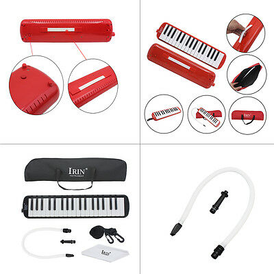 Black  Red  Great IRIN 32 /37 Piano Keys Melodica + Carrying Bag