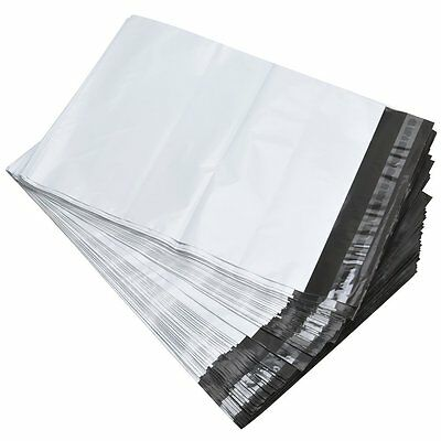 100 6X9 White Poly Mailers Self Sealing Shipping Envelopes Plastic Bags 2.5 Mil