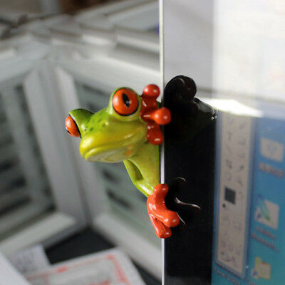 Novelty Cute Frog Figurines--Peeping Frog Resin Sculpture Decoration 002