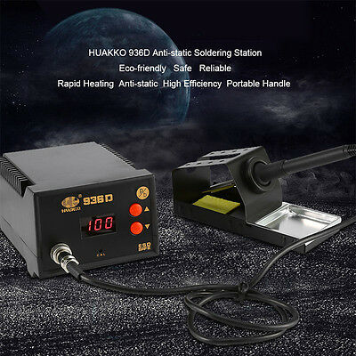 Portable Handle 936D Constant Temperature Soldering Station Air Gun Iron Welder