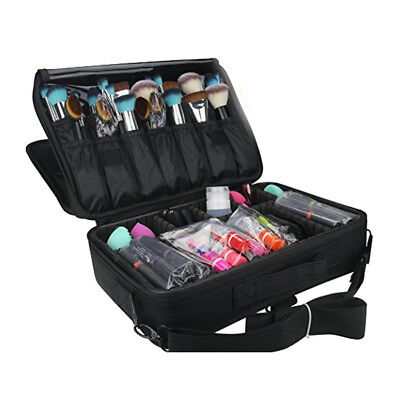 Large Portable EVA Professional Makeup Artist Train Case Box Organizer Bag