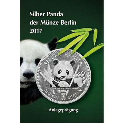 1/8 Oz Silber Panda 2017 Berlin in Blister Coincard
