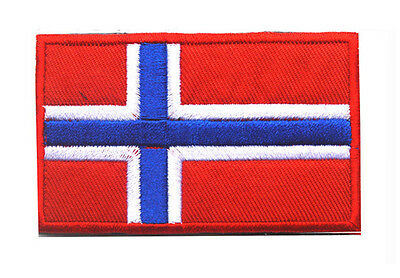 Norway flag LOGO Patches ARMY MORALE TACTICAL  BADGE HOOK & LOOP PATCH  SH+761