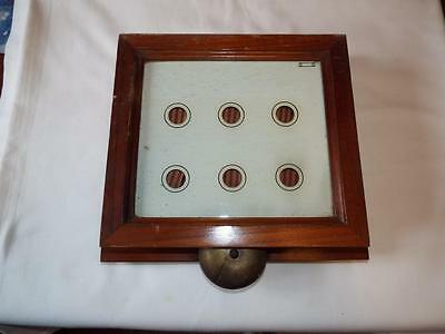 Old Butlers Servants call bell box indicator for six rooms.