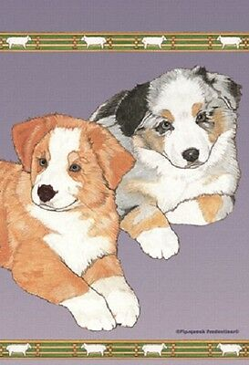 Garden Indoor/Outdoor Pipsqueak Flag - Australian Shepherd Pups 498591