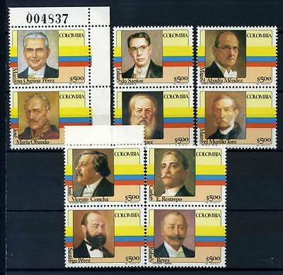 17-03-05617 - Colombia 1981 Mi.  1475-1484 MNH 100% Presidents Colombia