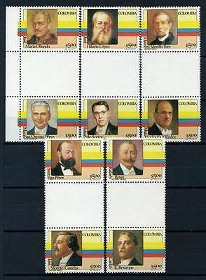 17-03-05618 - Colombia 1981 Mi.  1475-1484 MNH 100% Presidents Colombia.