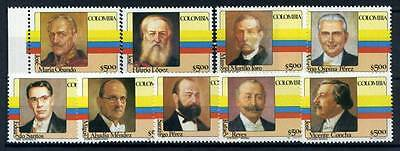 17-03-05619 - Colombia 1981 Mi.  1475-1484 MNH 100% Presidents Colombia'