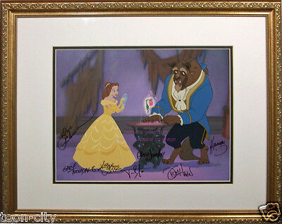 Disney Sericel Cel Beauty Beast Belle Signed by 7 Creators Animators COA 1991