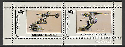 GB Locals - Bernera 3572 - 1981  CAR MASCOTS perf sheetlet of 2 unmounted mint