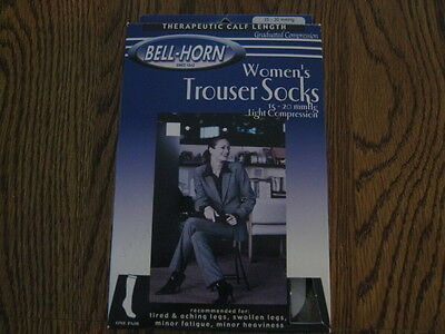 Bell Horn Therapeutic Women's Trouser Socks Small Black 15-20 mmHg  11537