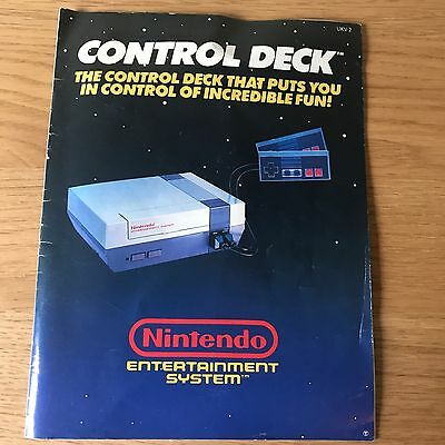 Nintendo NES Entertainment System Control Deck Instruction Manual | Booklet Only