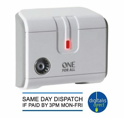 One for All SV9601 One Way Digital Freeview TV or Radio Signal Booster Amplifier