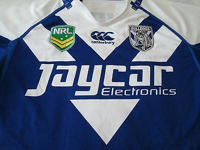 Canterbury Bankstown Bulldogs  NRL rugby shirt size XL