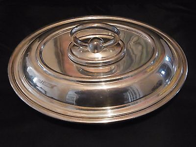 SUPERB Large ~ SILVER Plated ~ SERVING Dish ~ c1910 by Walker and Hall