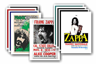 FRANK ZAPPA  - 10 promotional posters - collectable postcard set # 1