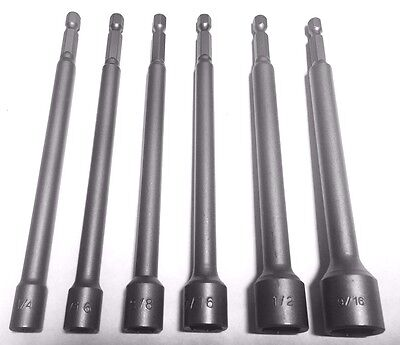 "6pc 6"" MAGNETIC NUT DRIVER SET Quick Release Hex Shank *US FAST FREE SHIPPPING*"