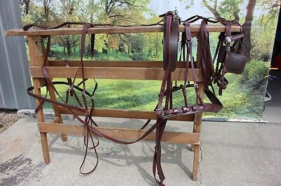 New extra nice BIOTHANE horse size driving harness BROWN by Frontier Equestrian