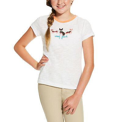 Ariat Woof Pak Tee Shirt w/Dogs - Childs/Kids - White -Diff Sizes