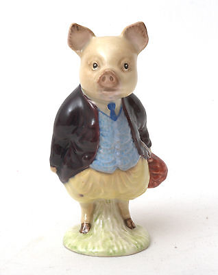 Beswick Beatrix Potter Figurine - Pigling Bland BP-2a Gold Oval