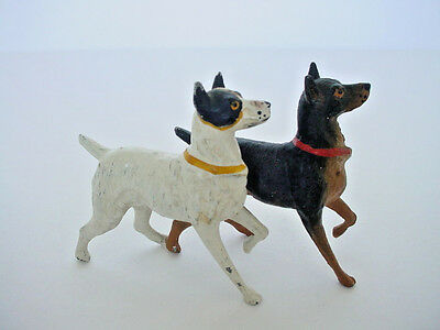 Vintage Cold Painted Vienna Bronze Jack Russell Terrier Dogs Miniature
