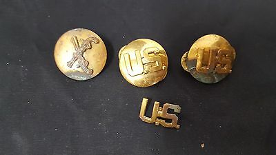 Lot of 3 WWII US Military Lapel Pins