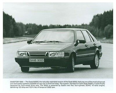 1988 Saab 9000S ORIGINAL Factory Photo och5758