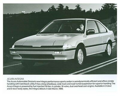 1986 Acura Integra ORIGINAL Factory Photo och5716
