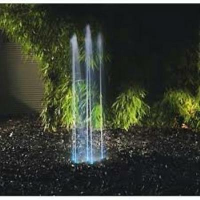 Oase Water Quintet Fountain and LED Light Kit With Remote Control 50354
