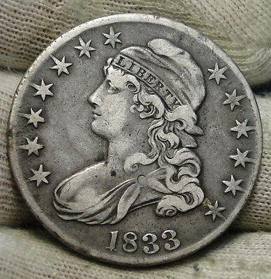 1833 Capped Bust Half Dollar 50 Cents - Nice Coin.. Free Shipping  (6058)