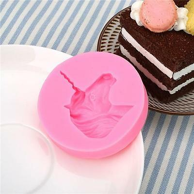 1pcs Silicone Mold Unicorn Mould Cake Baking Chocolate Candy DIY Decorating Q