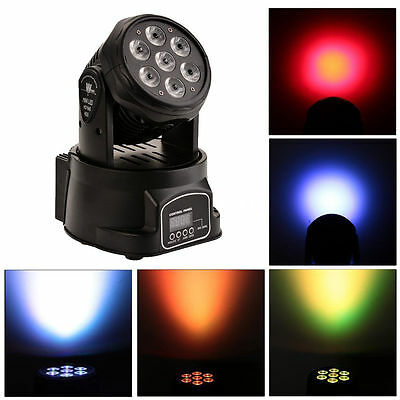 RGBW 7x15W LED Moving Wash Head Light DMX512 DJ Club Party Disco Stage Lighting
