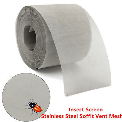 New 75mmx30.5m Roll  Stainless Steel Mesh Insect Screen Vent Filter Woven Wire
