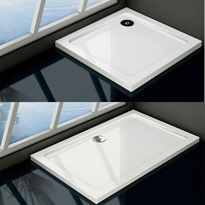 Aica Square Rectangle Slimline Shower Stone Tray For Shower Enclosure Glass Door