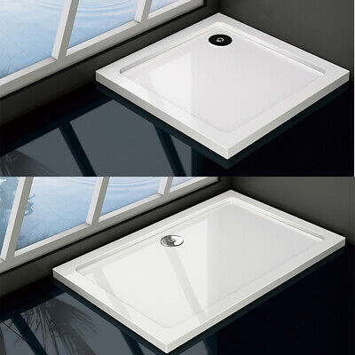 New Aica 30mm slimline shower enclosure stone tray free waste rectangle square