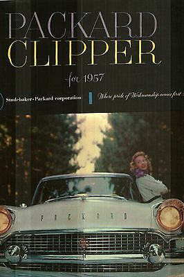 1957 Packard Clipper Large Deluxe Sales Catalog