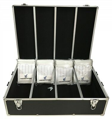 CheckOutStore Black Aluminum CD/DVD Hanging Storage Box (Holds 1000 Discs)