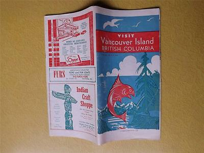 Travel Brochure Book Visit Vancouver Island British Columbia 1948 Advertisements