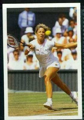Scarce Trade Card of Chris Evert-Lloyd, Tennis 1986 Action