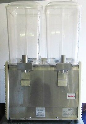 Vintage Crathco Bubbling Refrigerated Beverage Juice Dispenser D25-4 Dual Tank