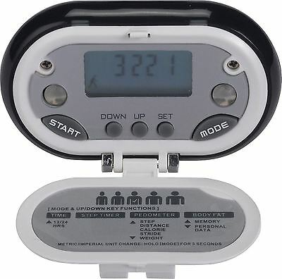 V-fit Pedometer / Calorie Burn counter with Body Fat Monitor - New