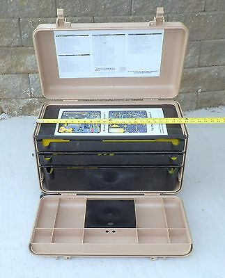 empty Kipper case Pelican Hardigg tool box wheeled 3 drawer Aviation Aircraft
